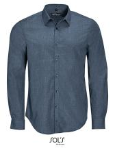 Men`s Long Sleeve Poplin Shirt Barnet